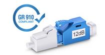 12dB LC/UPC Singlemode Fixed Fiber Optic Attenuator, Male-Female