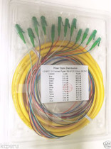 12 Strand 9/125 Fiber Optic Pigtails 3m LC/APC Single Mode