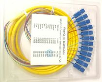 12 Strand 9/125 Fiber Optic Pigtails 3m SC/UPC Single Mode
