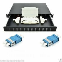 Fiber Optic Patch Panel 1U,Rackmount,12 Port Loaded LC Duplex