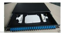 Fiber Patch Panel, 24 Port Loaded SC Simplex,1U,Rackmount