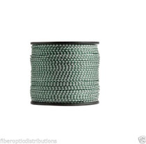 "1/2"" x 500' Hollow Braid Polypropylene Rope Hunter Green/white"