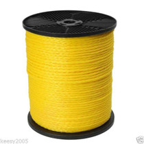 1/2 x 1000 Yellow Hollow Braid Polypropylene Rope