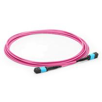 3m (10ft) MPO Female to MPO Female 12 Fibers OM4 50/125 Multimode Trunk Cable, Type B, Elite, LSZH, Magenta