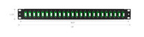 "48 Fibers, 24 Ports LC APC Duplex OS2 Single Mode Adapters, 1U High 19"" Fiber Patch Panel"