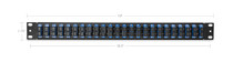 "48 Fibers, 24 Ports SC Duplex OS2 Single Mode Adapters, 1U High 19"" Fiber Patch Panel"