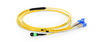1m (3ft) MTP Female to 4 LC UPC Duplex 8 Fibers OS2 9/125 Single Mode Breakout Cable, Type B, Elite, LSZH, Yellow