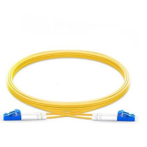 2m (7ft) Grade B LC UPC to LC UPC Duplex PVC(OFNR) OS2 Single Mode BIF Fiber Patch Cable, Typical 0.12dB IL