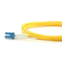 5m (16ft) Grade B LC UPC to LC UPC Duplex PVC(OFNR) OS2 Single Mode BIF Fiber Patch Cable, Typical 0.12dB IL