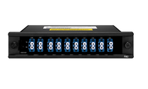 CWDM/DWDM Hybrid Solution, 8 Channels C53-C60 Dual Fiber DWDM Mux Demux, with Expansion Port, FMU Plug-in Module, LC/UPC
