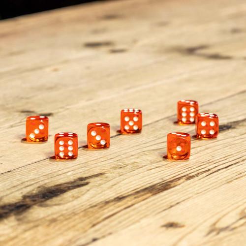 Chessex #23603 - Translucent Orange / White d6 (12ct)