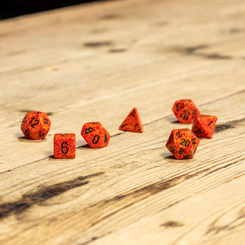 Chessex #25303 - Speckled Fire Polyhedral (7ct)