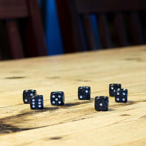 Chessex #25718 - Speckled Ninja d6 (12ct)