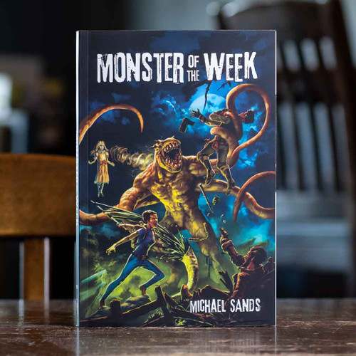 Mox Boarding House | Cover of Monster of the Week, an action horror RPG for three to five people.