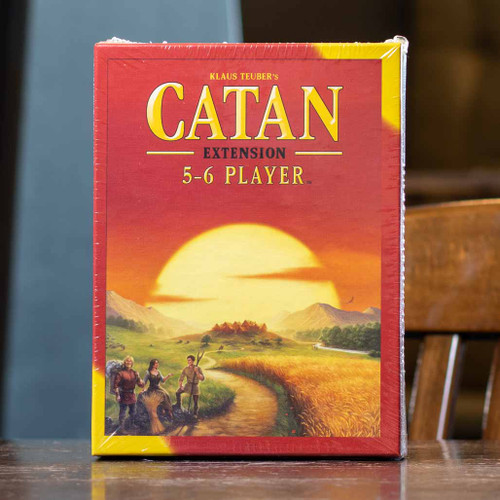 Front of the Catan five to six player expansion, allowing you to expand your number of players.