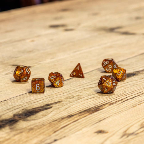Chessex #27503 - Glitter Gold / Silver Polyhedral (7ct)