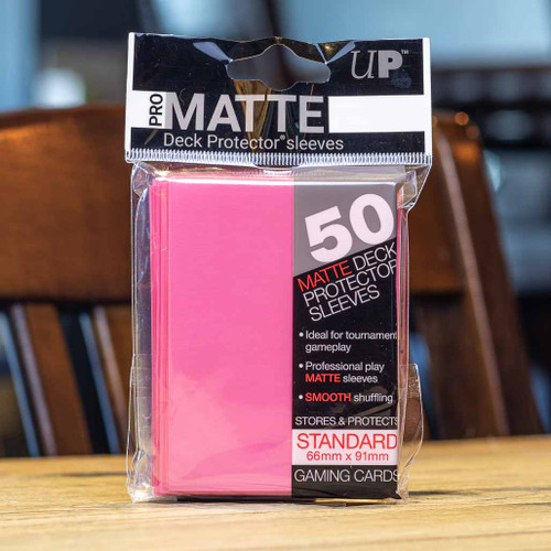 Ultra PRO Sleeves - Matte Bright Pink (50ct)