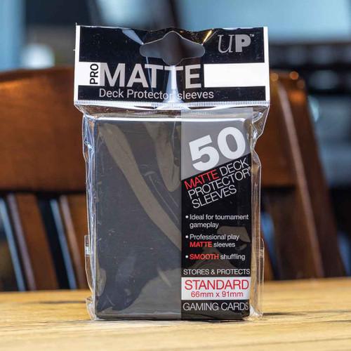 Ultra PRO Sleeves - Matte Black (50ct)