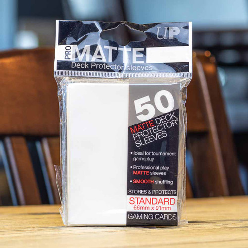 Ultra PRO Sleeves - Matte White (50ct)