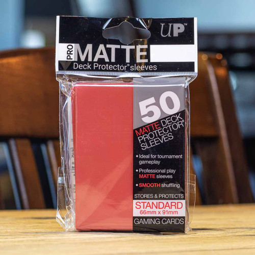 Ultra PRO Sleeves - Matte Red (50ct)