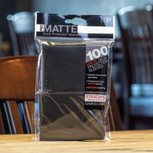 Ultra PRO Sleeves - Matte Black (100ct)