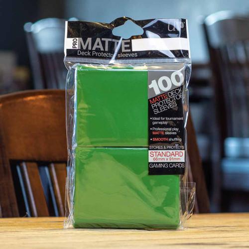 Ultra PRO Sleeves - Matte Green (100ct)