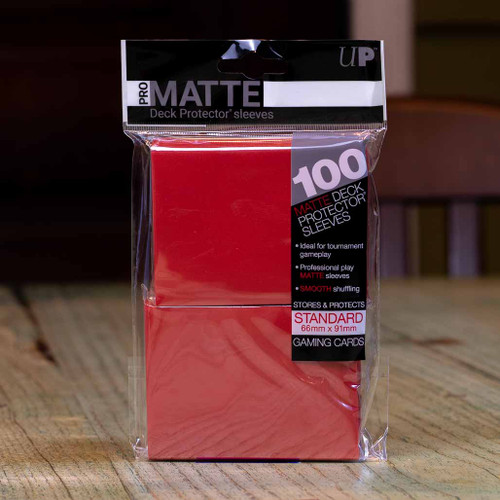 Ultra PRO Sleeves - Matte Red (100ct)