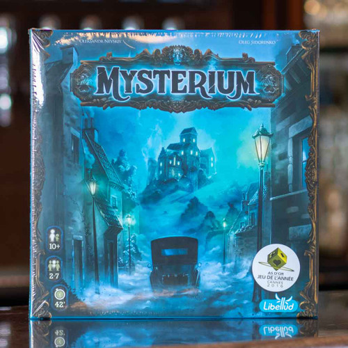 Mox Boarding House | Front of Mysterium, a cooperative mystery game for two to seven players.