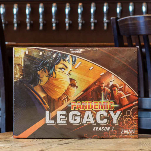 Mox Boarding House | Front of red variant of Pandemic Legacy Season 1, a cooperative game for two to four players.