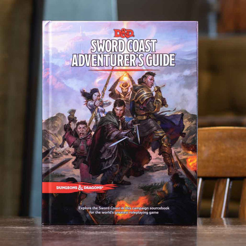 Mox Boarding House | Cover of the D&D Sword Coast Adventurer's Guide, featuring new classes and settings.