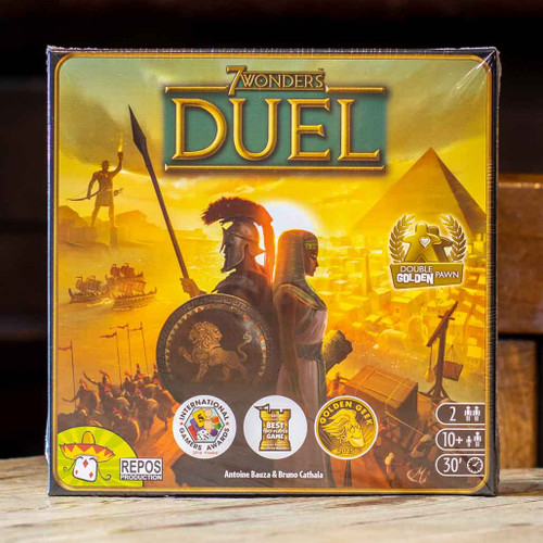 Mox Boarding House | Front of 7 Wonders Duel, an award-winning strategy game for two players.
