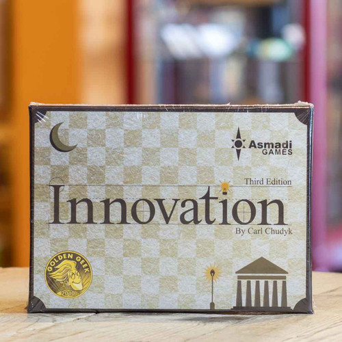 Mox Boarding House | Front of Innovation, a civilization building card game for two to four players.