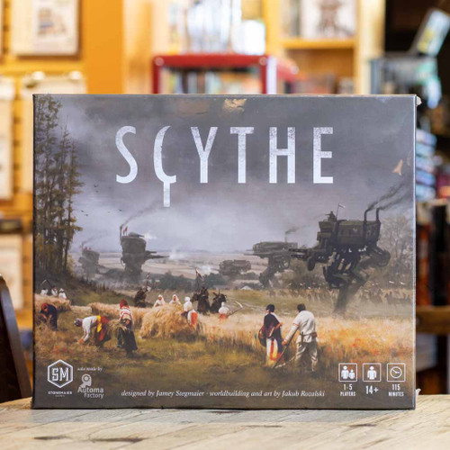 Mox Boarding House | Front of Scythe, an area control game for one to five players.