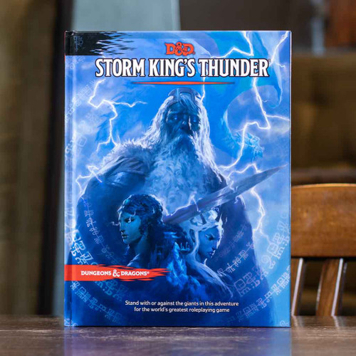 Mox Boarding House | Front cover of the D&D Storm King's Thunder adventure, featuring an assault of giants.