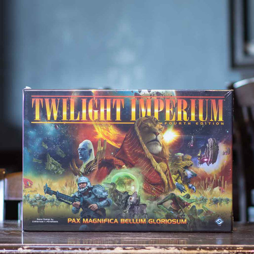 Mox Boarding House | front cover of Twilight Imperium Fourth Edition, a 3-6 player strategy game
