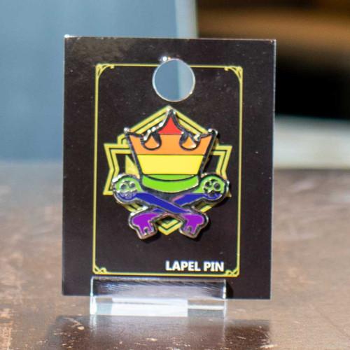 Rainbow Crown & Keys Mox Pin