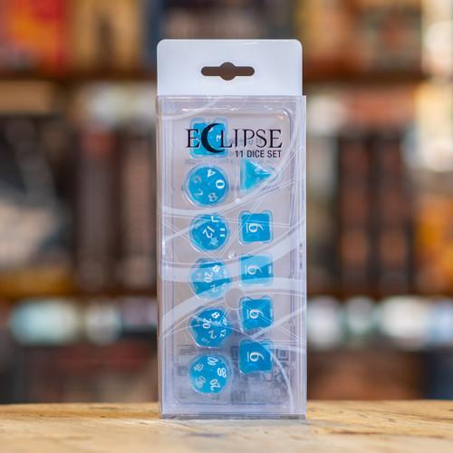 Eclipse 11pc Dice Set - Sky Blue