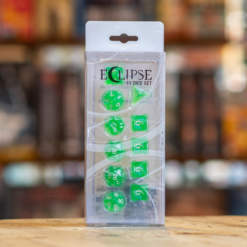 Eclipse 11pc Dice Set - Lime Green