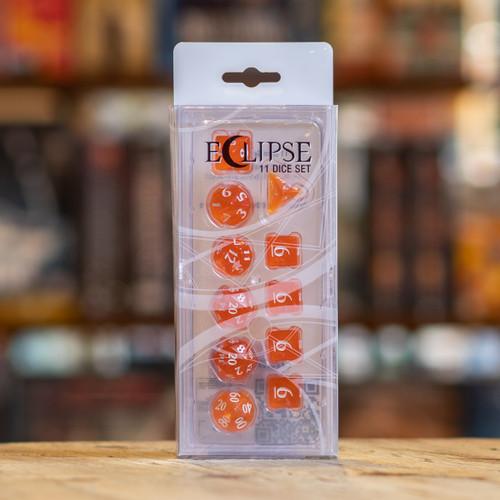 Eclipse 11pc Dice Set - Pumpkin Orange