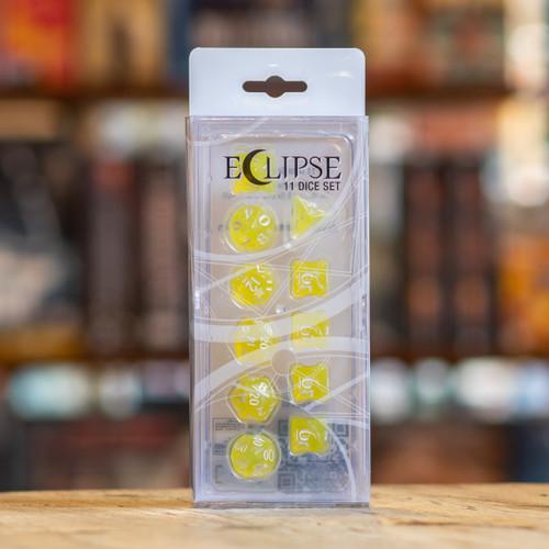 Eclipse 11pc Dice Set - Lemon Yellow