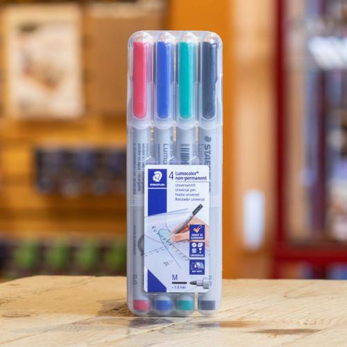 Staedtler Lumocolor Marker: Wet Erase: 4 Marker Set