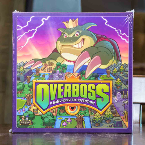 Mox Boarding House | Front cover of Overboss, board games for 2-5 people