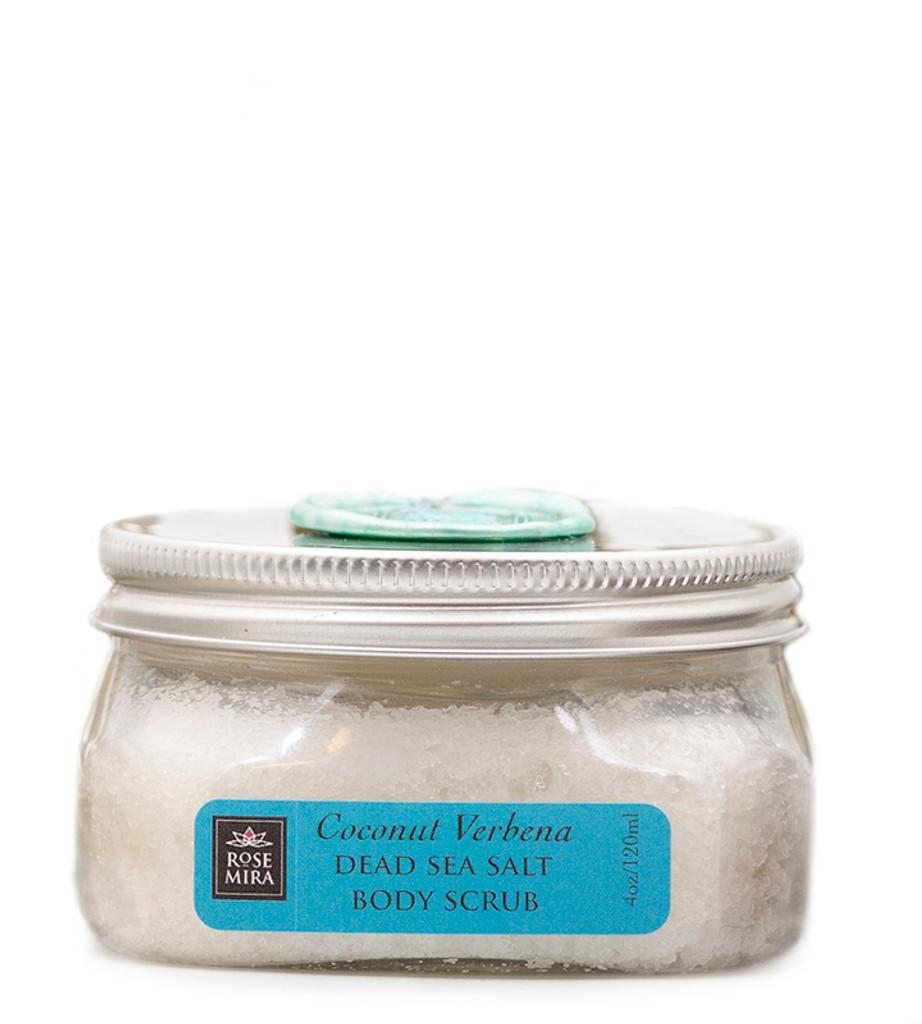 Coconut Verbena refreshing Dead-Sea Salt Scrub - Holiday edition