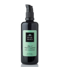 Organic Cleanser: Aloe & Pink Grapefruit Gel Miron Glass in California at Rosemria Organics