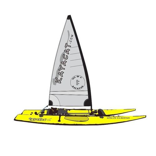 Kayacat Couger Yellow hull with grey sail