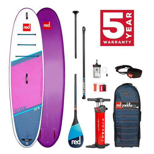 Red Paddle 2021 Ride 10'6 SE Inflatable SUP Package