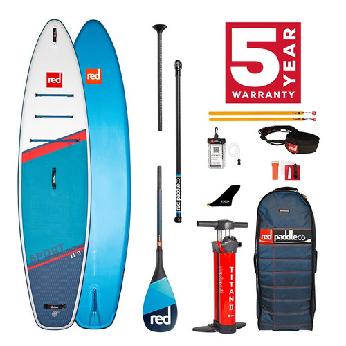 Red Paddle 2021 Sport 11'3 Package Blue
