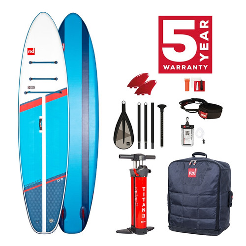 Red Paddle 2021 Compact 11'0 Inflatable SUP Package