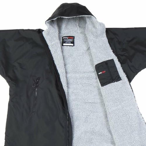 Dryrobe Advance Adult Size Black Grey XLarge Short Sleeve inside