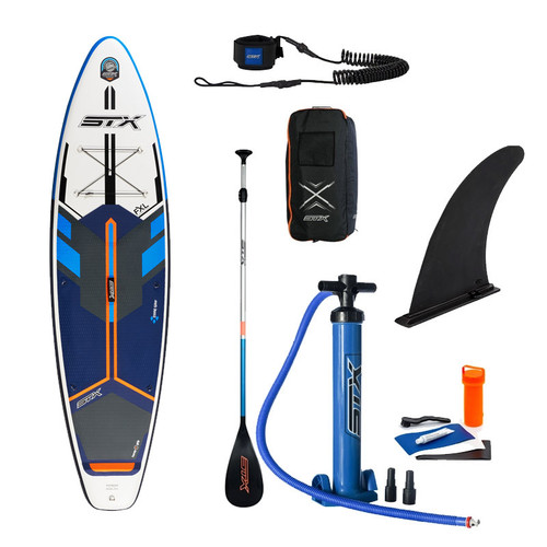 STX iSUP Freeride 10'8 x 34 Inflatable Stand Up Paddle Board Package